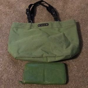 00s Kenneth Cole Reaction Bag & Wallet
